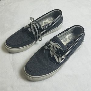 Sperry Top Sider Gray & Black Shoes